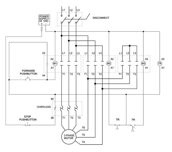 3 phase motor control of a delta star connection electricos 3 phase motor control of a delta star connection ccuart Choice Image