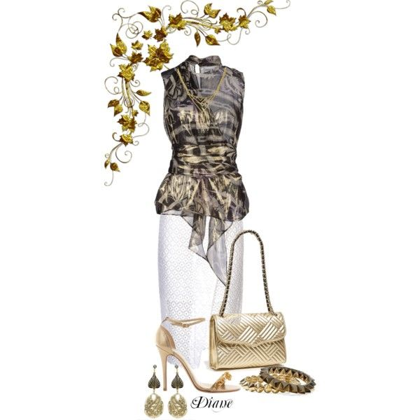 """""""Golden Nights"""" by diane-shelton on Polyvore"""