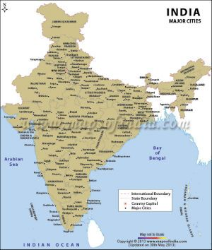 Indian map with labeled cities and villages including the indian map with labeled cities and villages including the population of people in each type of city indian city information pinterest india map gumiabroncs Images