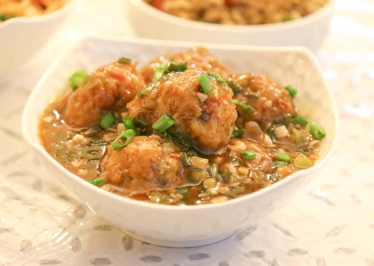 Photo of Vegetable Manchurian Balls in Hot and Spicy Garlic Sauce
