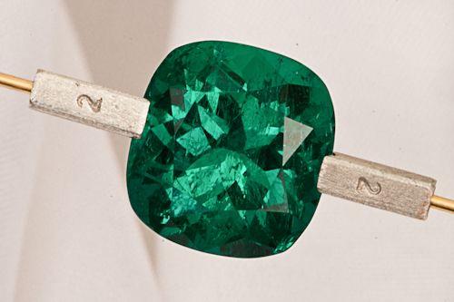 Fabulous 6.50 carat Cushion cut Colombian Emerald from the mine of Muzo