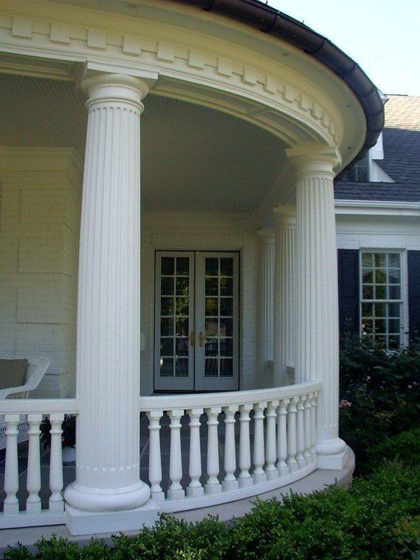 Cast Stone Column Porch Columns Front Porch Designs Front Porch Design House Columns Modern Front Porches