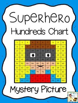 Superhero Hundreds Chart Mystery Picture  Fun Worksheets