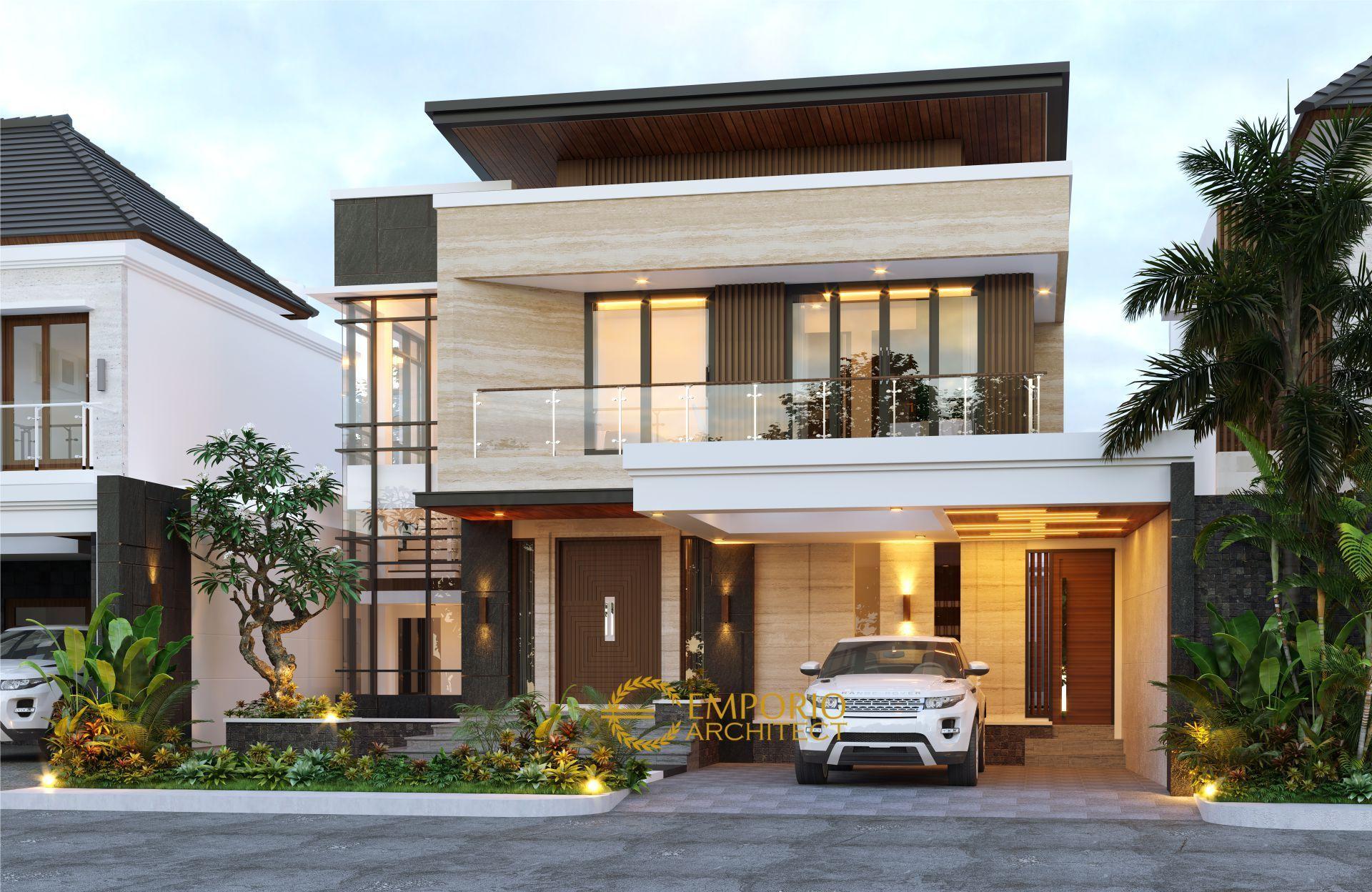 Desain Rumah Modern 2 Lantai Ibu Cynthia Angraini Tampubolon Di Pekanbaru Riau Jasa Arsitek Desain R Desain Rumah Modern Desain Eksterior Rumah Rumah Modern