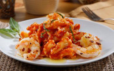 Barilla® Campanelle with Shrimp & Basil in Barilla Sweet Peppers Recipe | Barilla