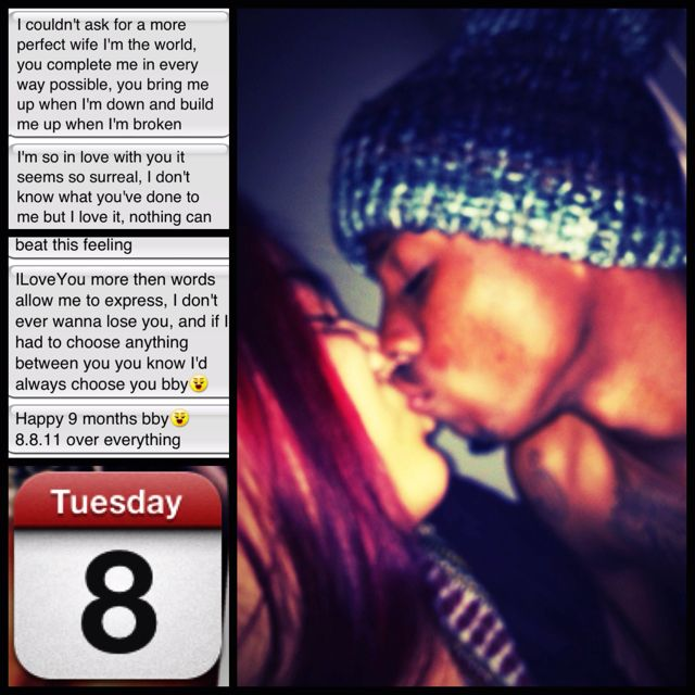 Happy 9 Month Anniversary to Us His Text had Me in Tears ...