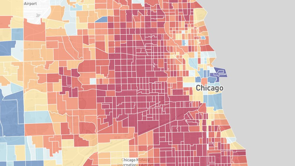 Chicago Map Grid%0A Many Chicago Neighborhoods Are at Risk of Lead Exposure