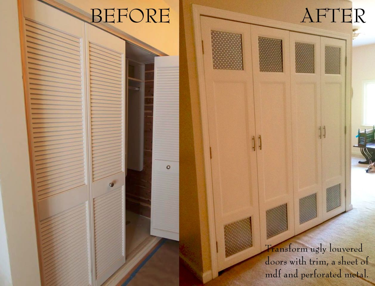 15 Must-see Louvered Door Ideas Pins  Old shutters decor, Sliding