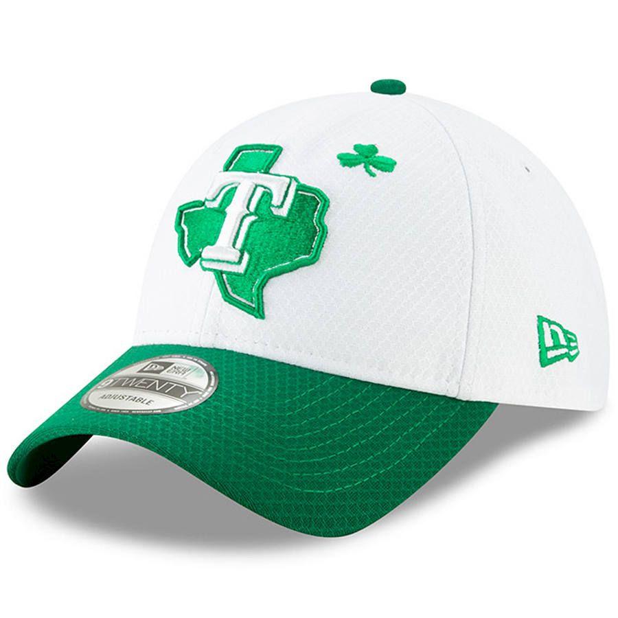 huge discount 0c2e6 351f7 Men s Texas Rangers New Era White Kelly Green 2019 St. Patrick s Day 9TWENTY  Adjustable Hat, Your Price   29.99