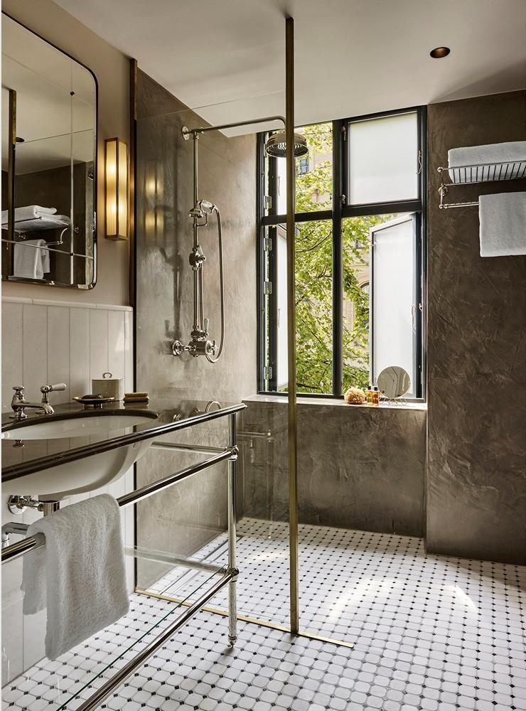 modern bath with earthy materials I Décor Aid   Bathroom   Pinterest ...