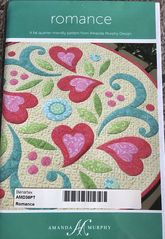 Romance Quilt Pattern 22 Table Topper Amanda Murphy Scraps