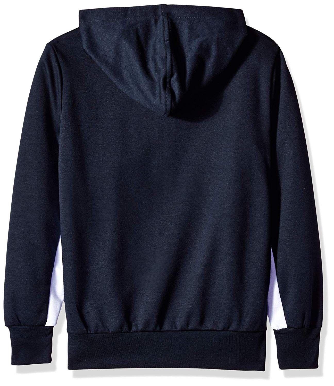 Boys Fleece Zip Sweater Navy Color Block Tech