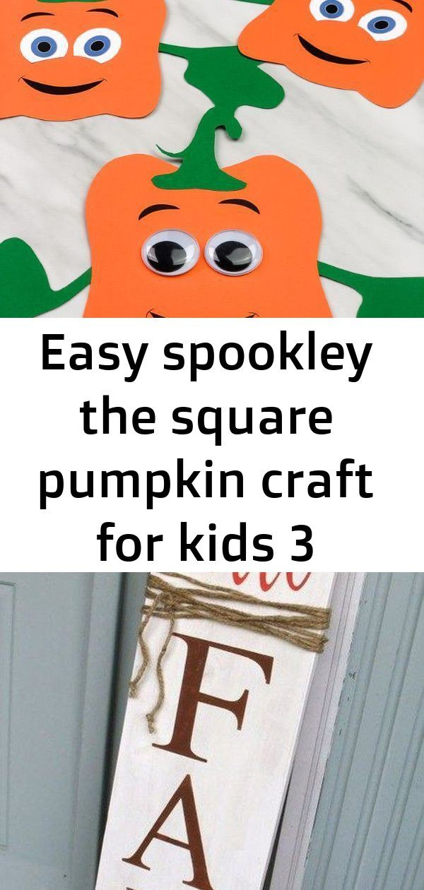 Easy spookley the square pumpkin craft for kids 3 This Spookley the Square Pumpkin craft for kids is a fun DIY paper craft for kids to make at home or at school. It's easy to make thanks to the free printable template. It's perfect for preschool, kindergarten and elementary children. Wonderful Fall Outdoor Decorating Ideas 03 I love this Paper Pla