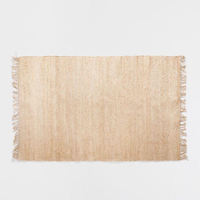 Zara Home Teppich juteteppich mit fransen teppiche dekoration zara home