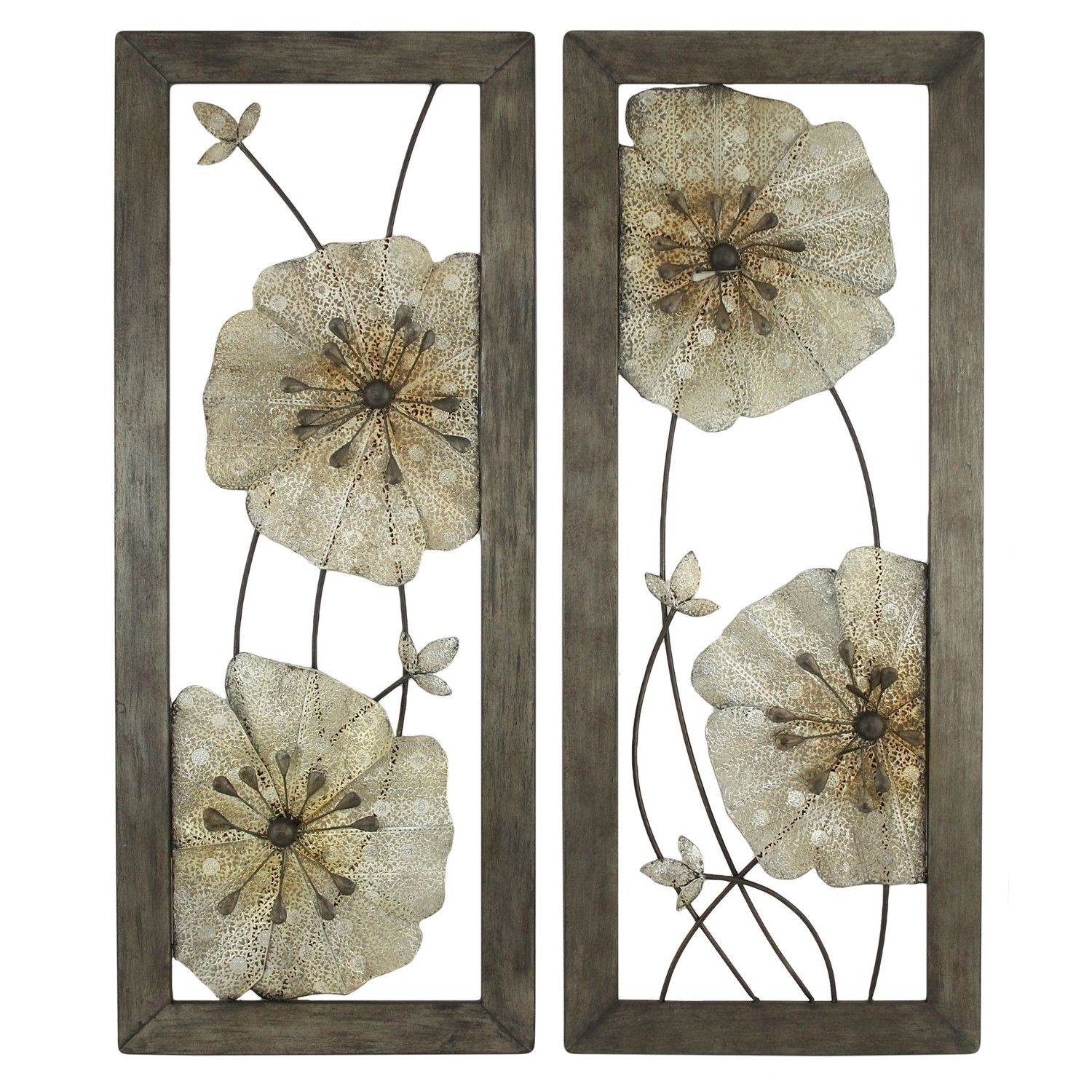 Aspire marla piece flower wall decor set u reviews wayfair