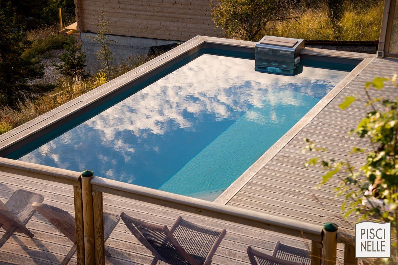 piscinelle cr6b avec liner gris ardoise et terrasse en bois naturel piscine pinterest. Black Bedroom Furniture Sets. Home Design Ideas