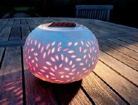 Lampe solaire filigree pour table de jardin - achetez Lampe solaire ...