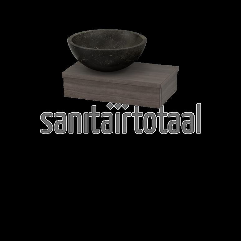 Landelijk toiletmeubel hout steigerhout natuursteen modern fonteintje fontein toilet - Rustieke wc ...