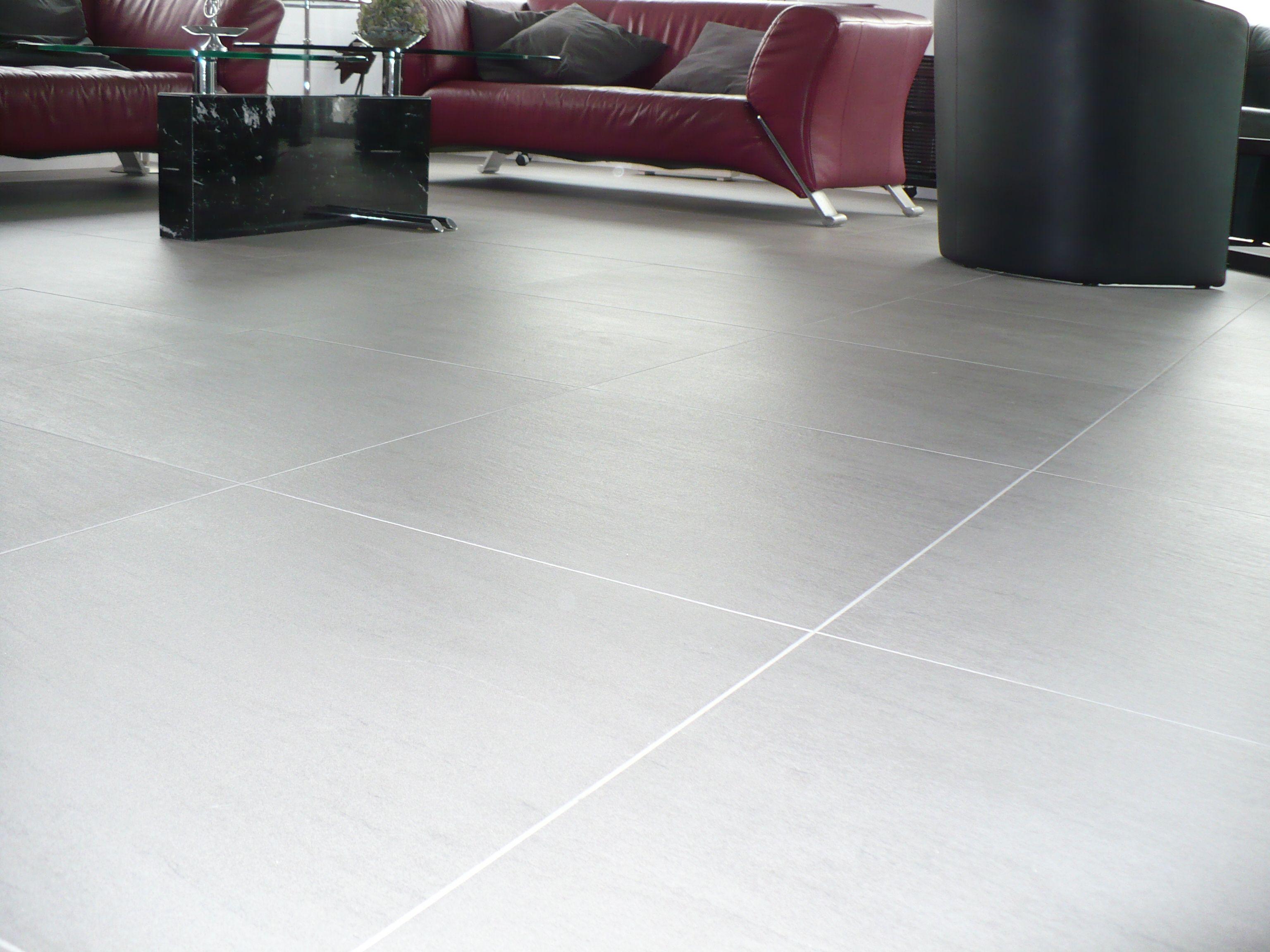 woonkamer vloertegels grijs strak met lichte voeg | mooie, Deco ideeën