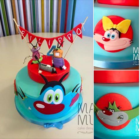 Torta Compleanno Oggy E I Maledetti Scarafaggi.Torte Oggy E I Maledetti Scarafaggi Torte Compleanno Festa