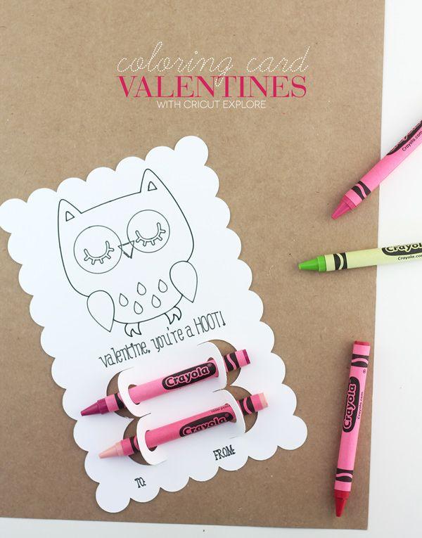 Coloring Card Valentines - Damask Love  Cricut valentines