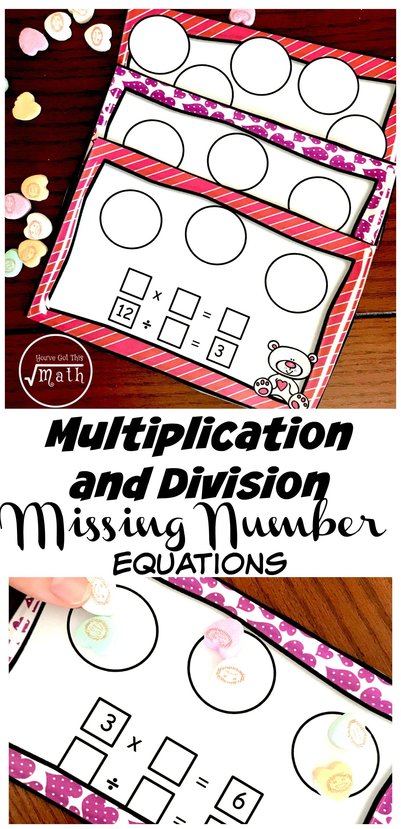 Here S Free Missing Factor Worksheets Or Task Cards For