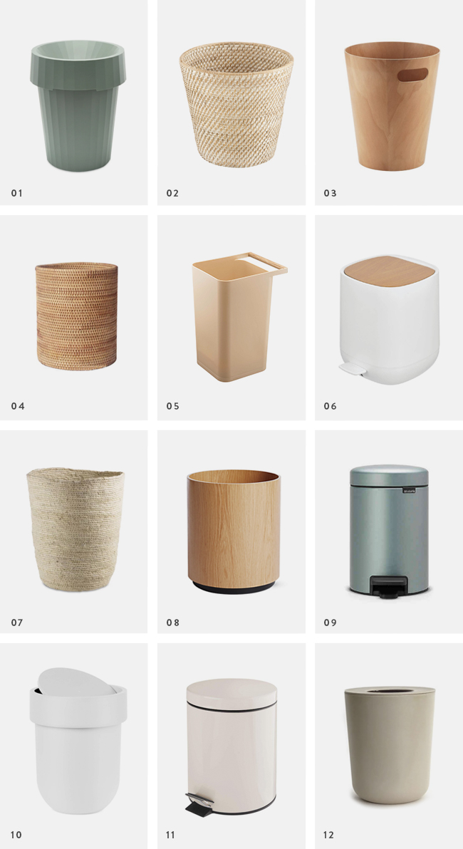 Pretty Everything 21 Attractive Trash Cans Bedroom Trash Can