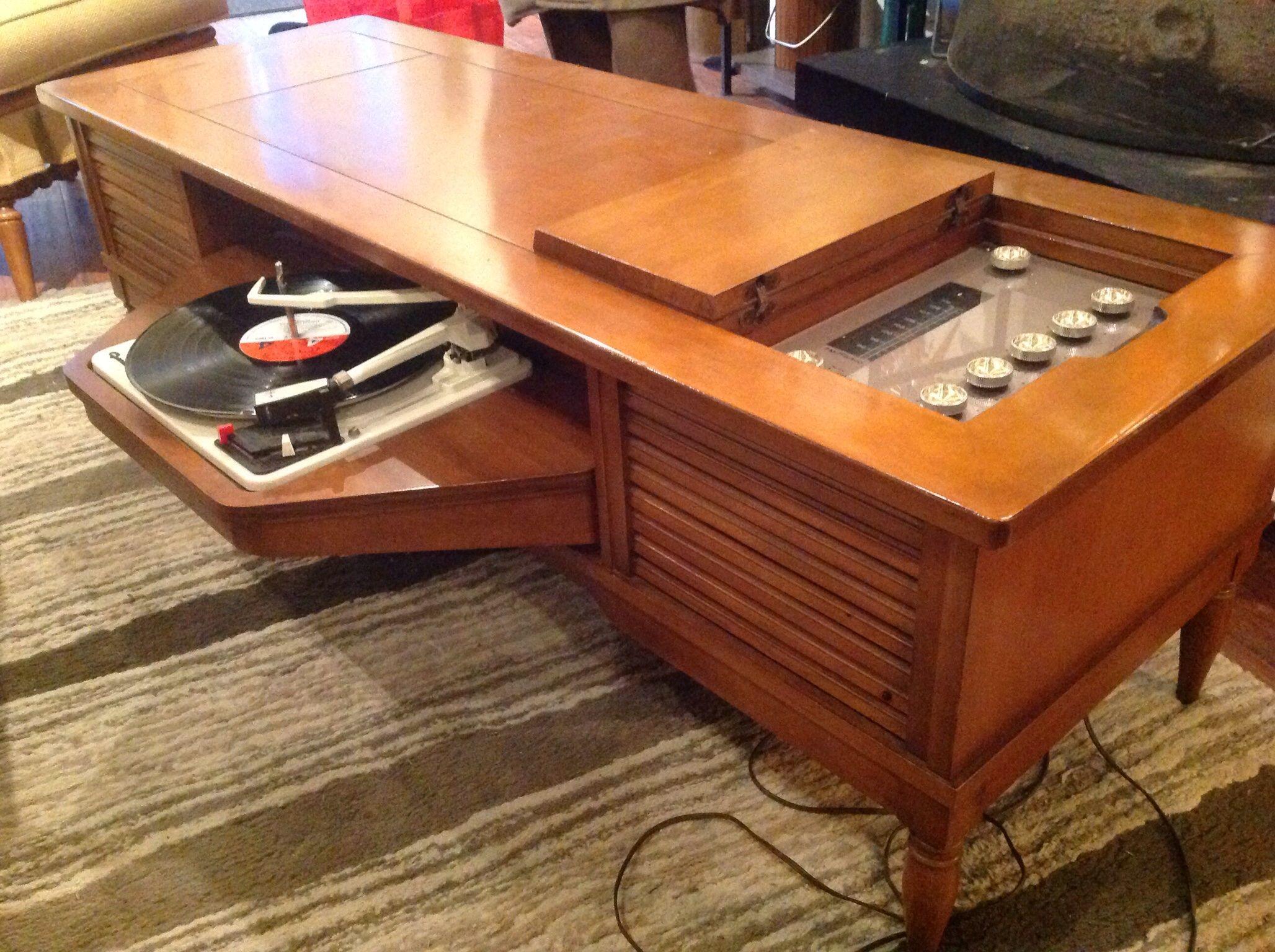 60s Swingaway Coffee Table Record Player Vintage Stereo Console Stereo Cabinet Stereo Console