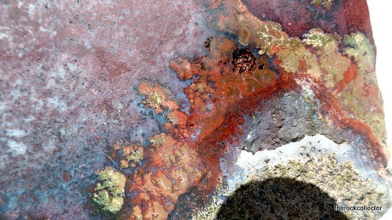 Check out this item in my Etsy shop https://www.etsy.com/listing/280425780/brenda-red-green-plume-onfire-rough-rock