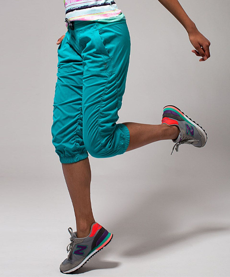 ff46ab100b242 Another great find on #zulily! ivivva Blue Tropics Live To Move Pants by  ivivva #zulilyfinds