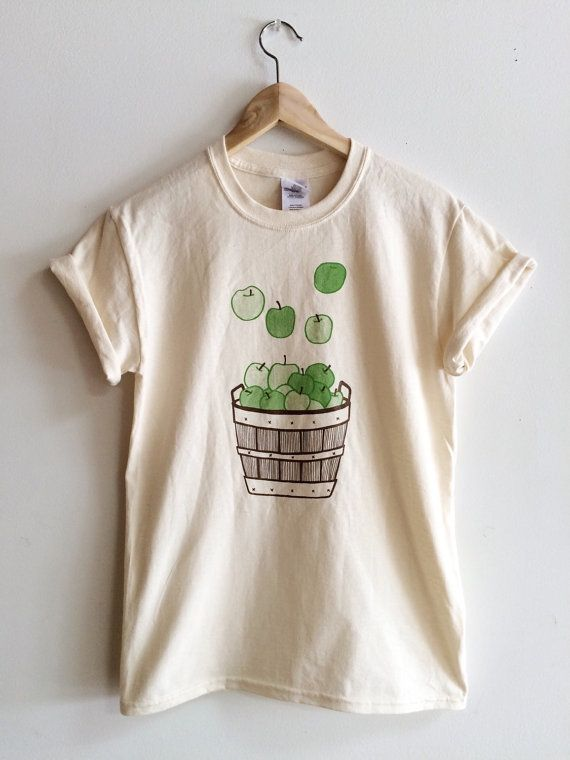 Apple Screen Printed T Shirt by andMorgan on Etsy