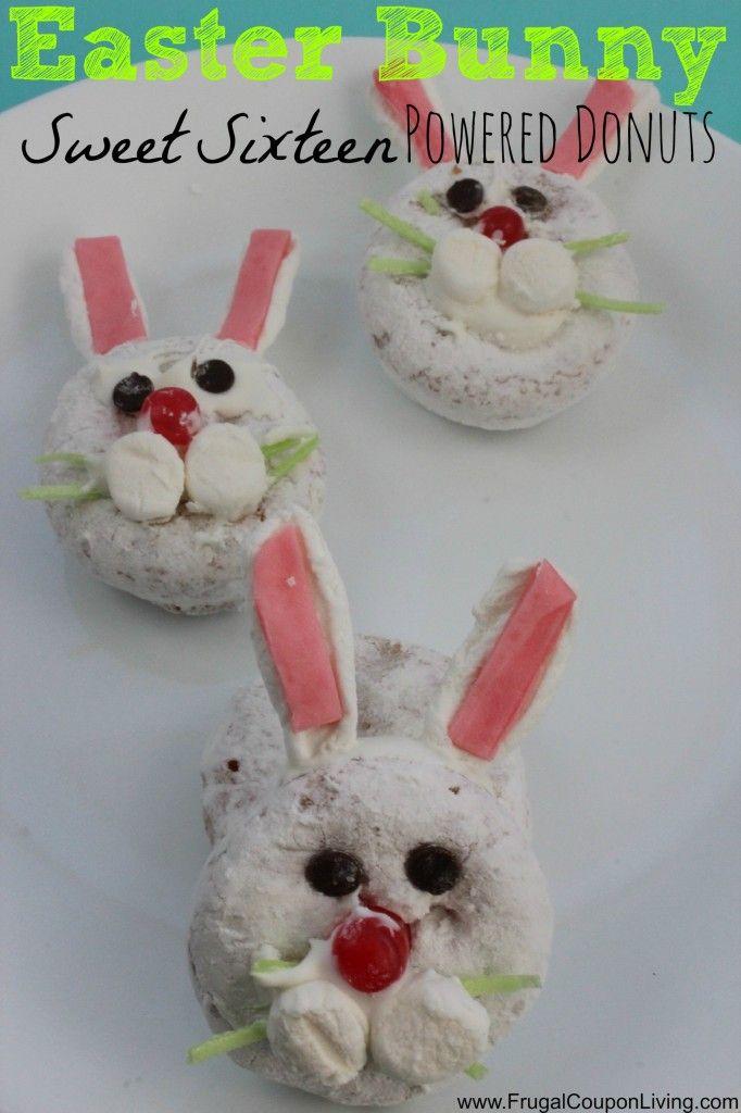 Easter Bunny Donuts – Sweet Sixteen Powered Mini Rabbits #recipe #easter #sweetsixteen #donuts