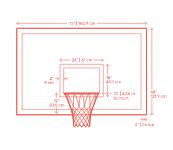 Basketball Backboards Dimensions Drawings Dimensions Guide Basketball Backboards Basketball Basketball Backboard