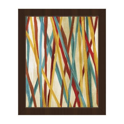 "Click Wall Art Pick Up Sticks Framed Painting Print on Canvas Frame Color: Espresso, Size: 22.5"" H x 18.5"" W x 1"" D"