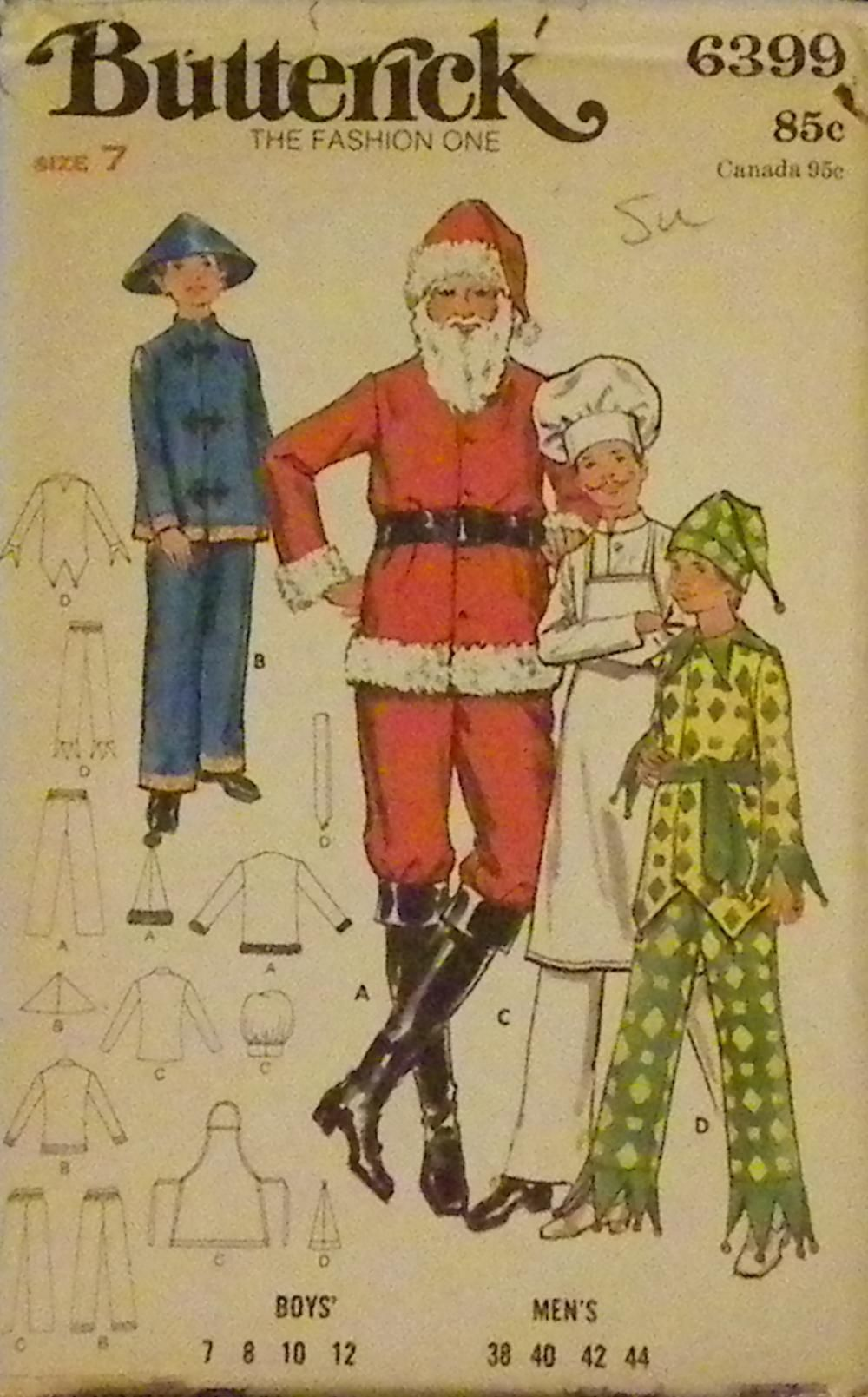 Butterick 6399 chinese man costumes and vintage sewing patterns butterick 6399 christmas sewing patternsboys jeuxipadfo Image collections