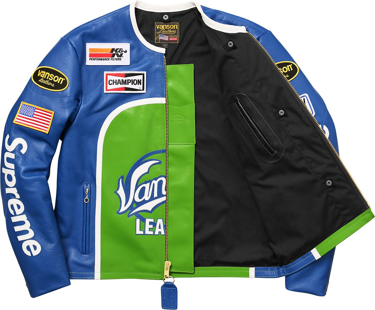 Supreme Vanson Leather Star Jacket