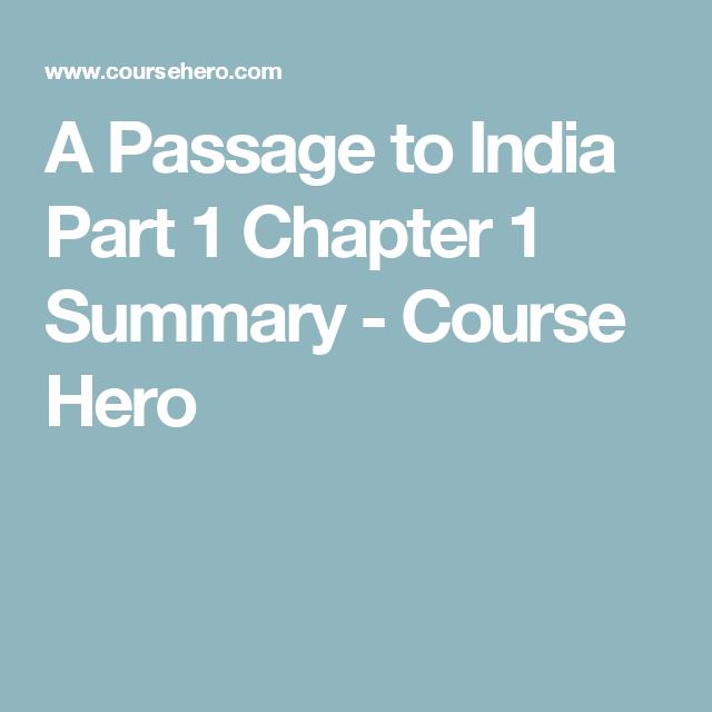 summary a passage to india