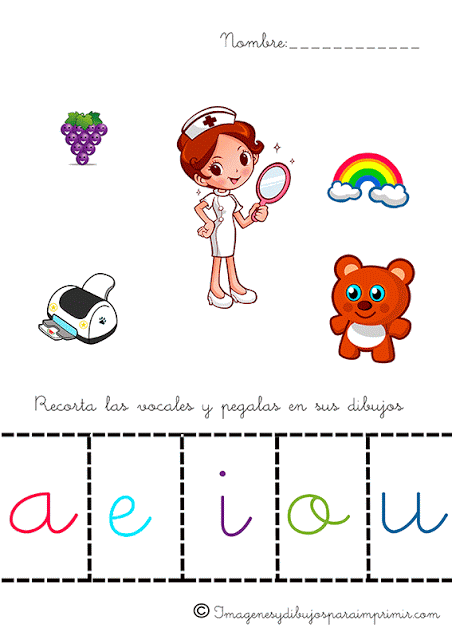 Aprender las vocales para niños-Imagenes y dibujos para imprimir ...
