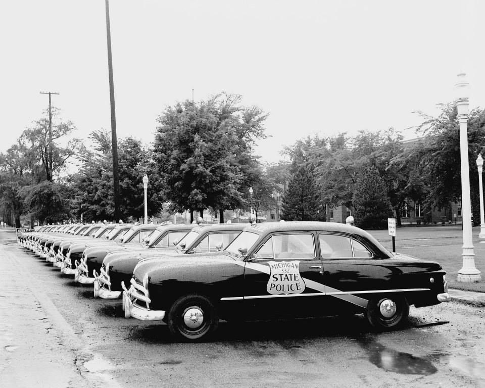 1949 Fords: Michigan State Police   May I see your license ...