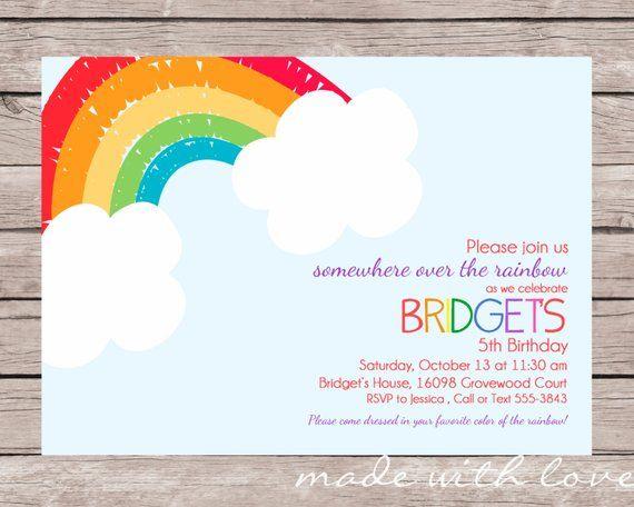 cbc6e5a905828 Somewhere Over The Rainbow Baby Shower Invitation - Rainbow Invite - Rainbow  Baby | Baby Shower Invitations | Rainbow invitations, Rainbow baby, ...