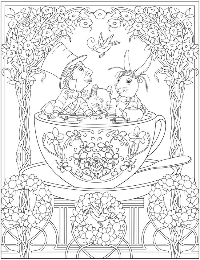 Creative Haven Alice in Wonderland Designs Coloring Book @ Dover ...