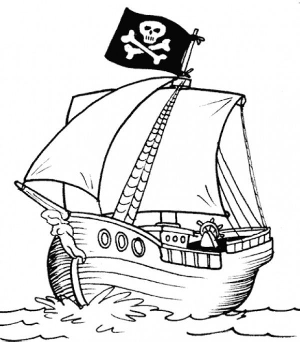 15 Printable Pirate Ships Coloring Pages in 2020 (With images)