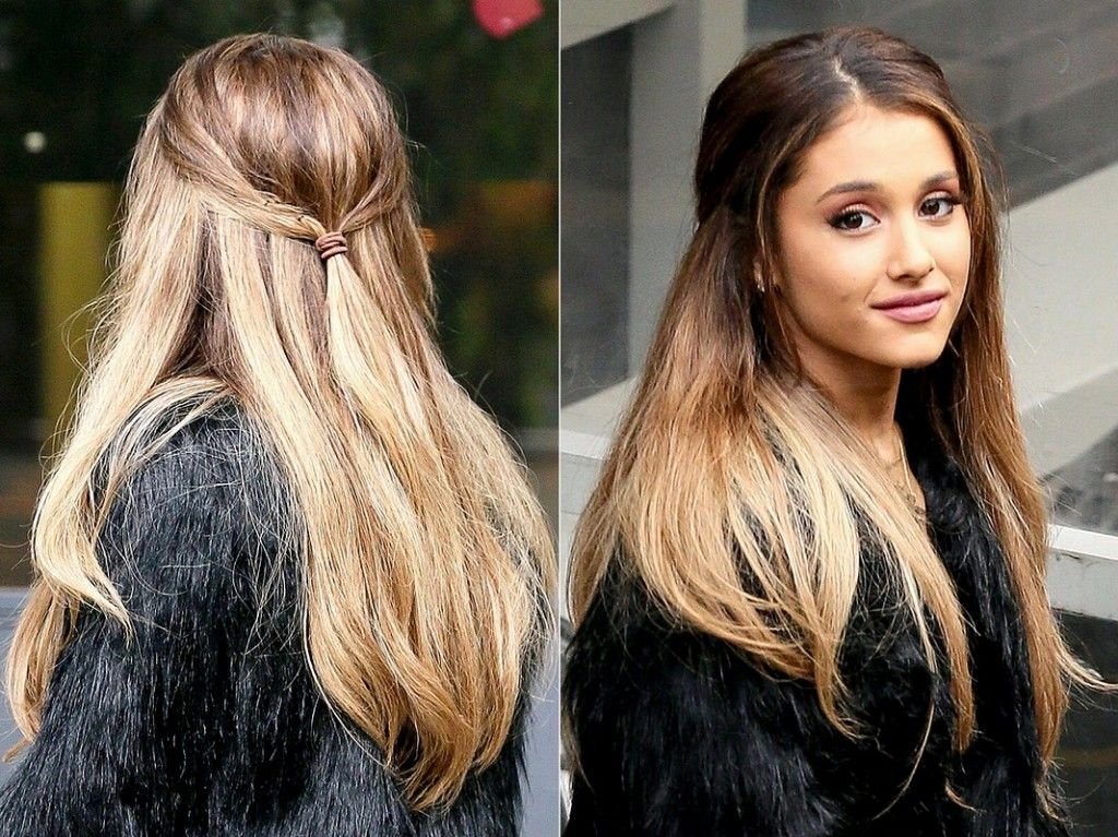 Brown Hair With Red Ombre New Hairs Pics Ariana Grande 2015 Dark