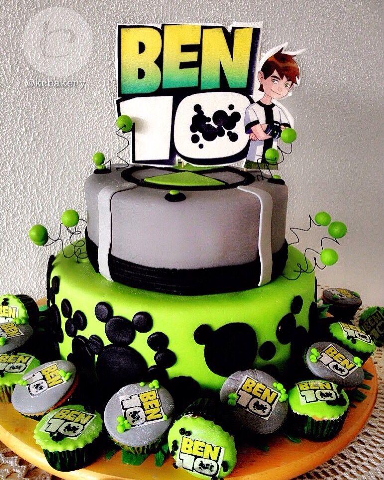 Ben 10 Cake With Images Ben 10 Birthday Ben 10 Party Ben