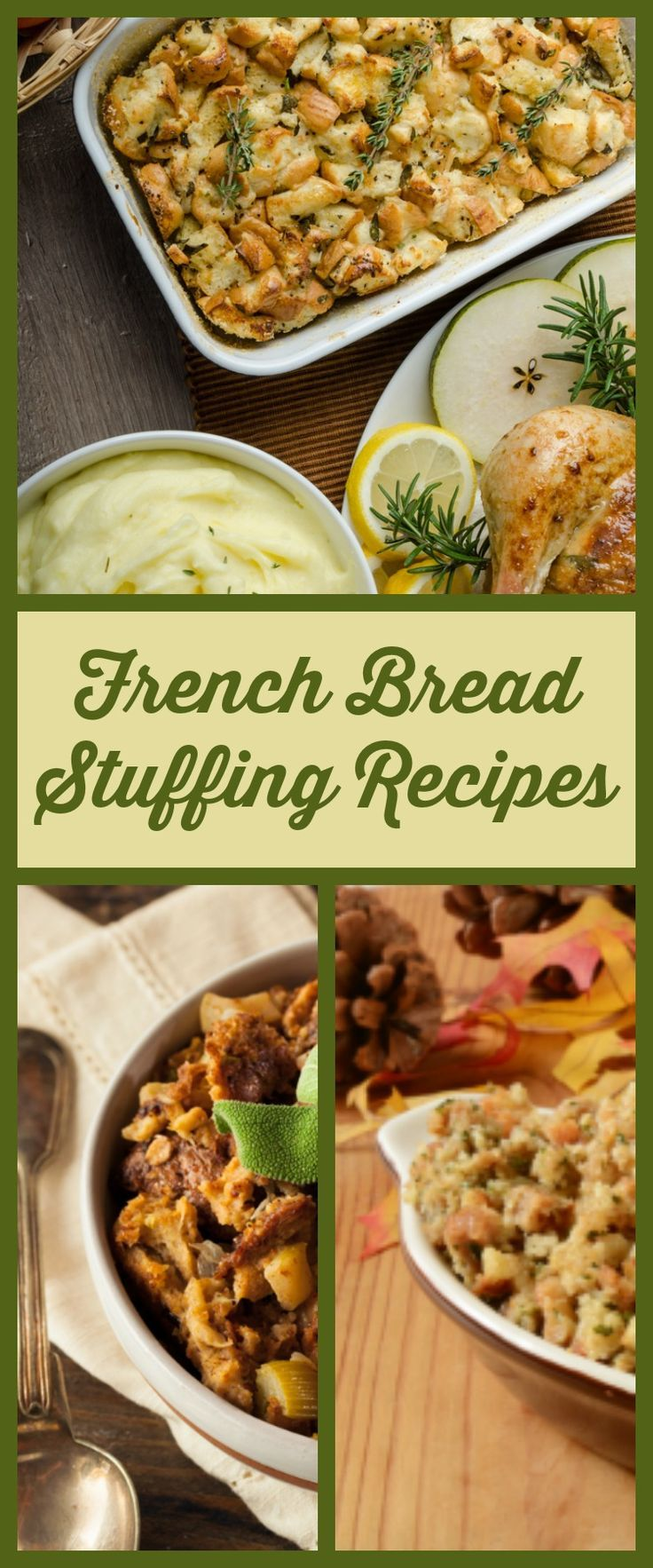 Recipe French Bread Stuffing   Food recipes, Stuffing ...