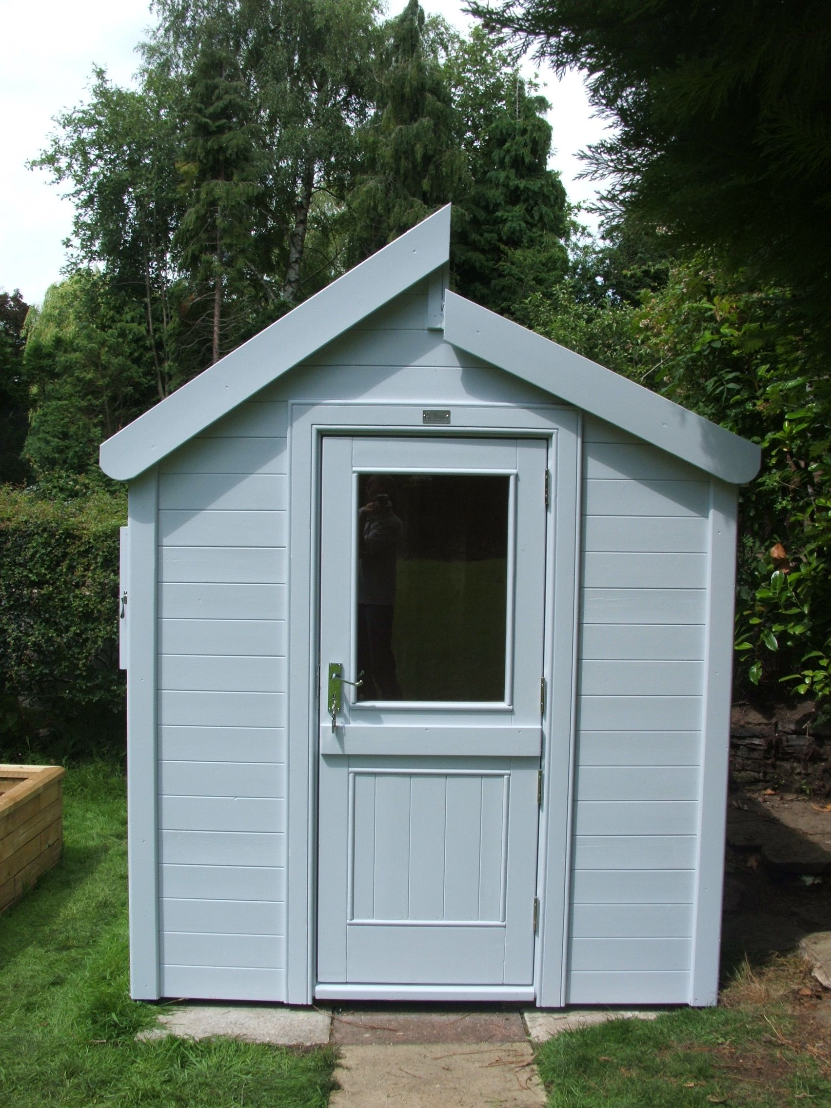 Garden Sheds Exeter this contemporary shed is painted in the gorgeous but subtle