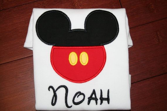 Boys Kids custom mouse shirt by PinkyDinkyDesigns2 on Etsy, $17.00