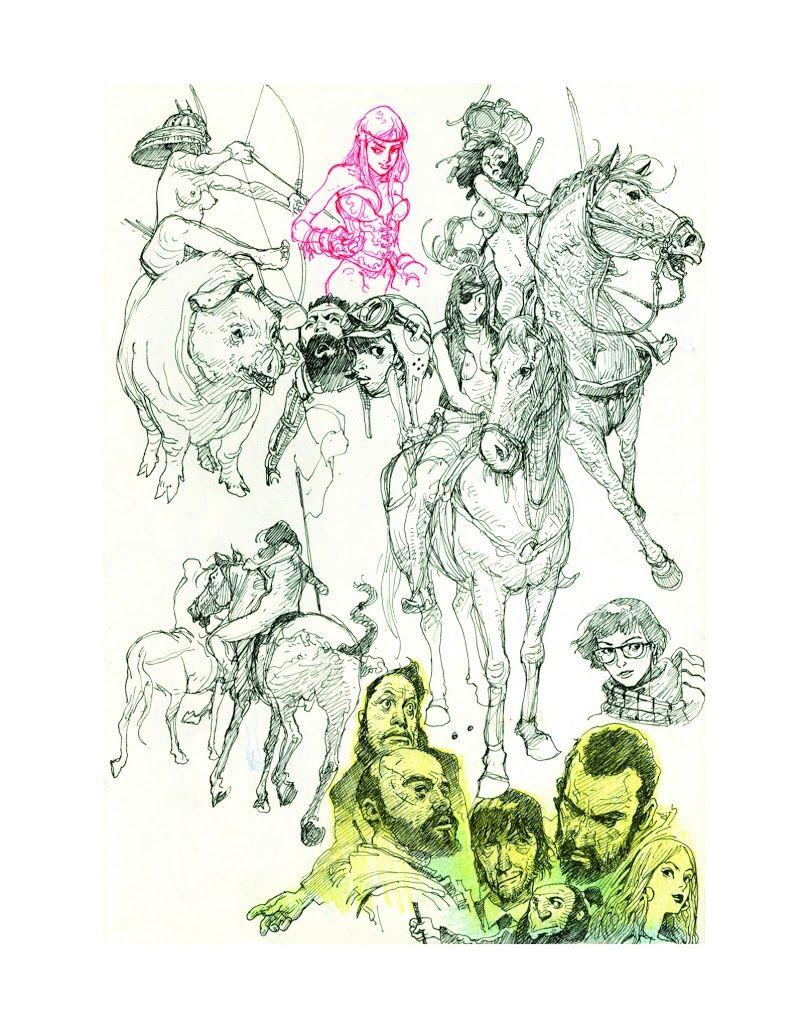 Kim Jung Gi 2013 Sketch Collection Book Drawings Illustration Anime Manga Art