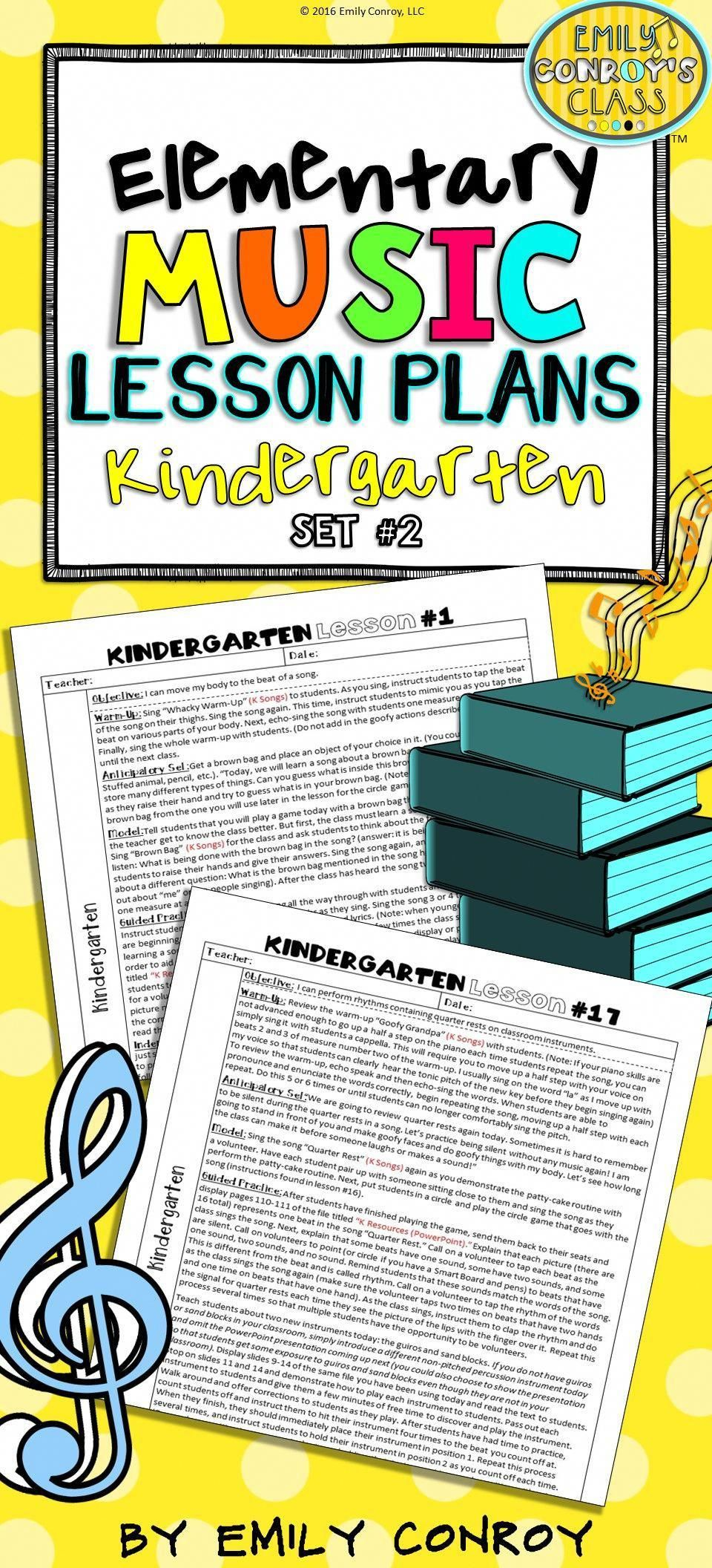 Kindergarten Music Lesson Plans (Set #2) | Music lessons ...