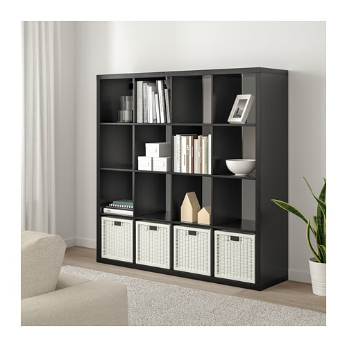 Kallax Shelf Unit Black Brown 57 7 8x57 7 8 With Images
